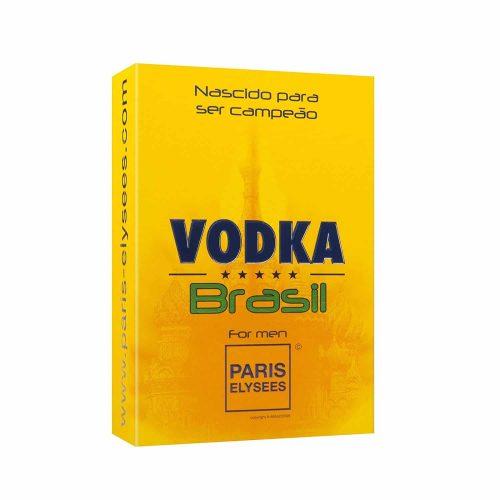 Embalagem Vodka Brasil Amarelo Paris Elysees