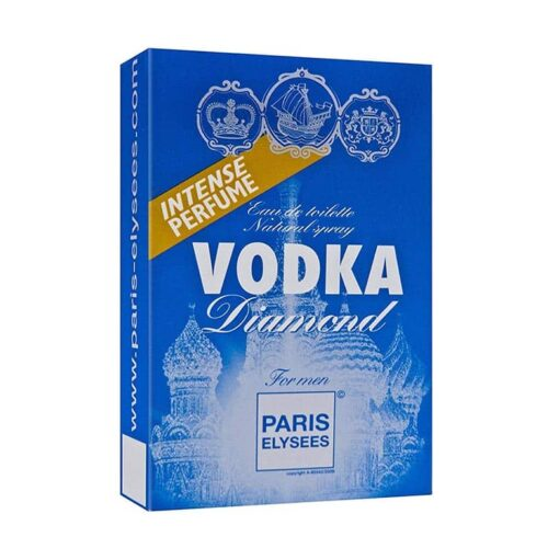 Vodka Diamond Paris Elysees embalagem Toilette perfume masculino Paris Elysees