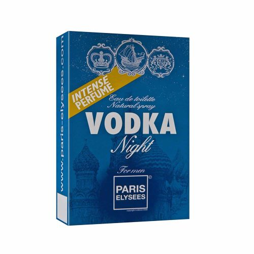 Embalagem do perfume vodka Night