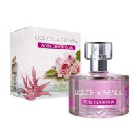 Linha Dolce Sense Rose Centifolia parfum 60ml caixa e frasco de vidro