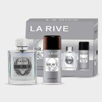 Kit Brave La Rive, Contem 1 perfume toilette de 100 ml + 1 Desodorante de 150 ml. contratipo do Invictus