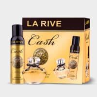 Kit Cash Woman da La Rive, composto por 1 Perfume de 90 ml, mais um desodorante de 150ml.