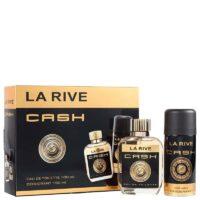 Kit Cash Man La Rive, contém 1 perfume edt 100 ml + 1 desodorante de 150 m, contratipo do One Million